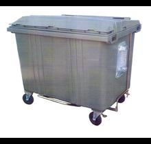 Conteneur de déchets poubelle 1700L Noir H.D.P.E.