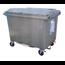SalesBridges 4 wheeled collection waste bin 1700L Black H.D.P.E.