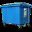SalesBridges 4 wheeled collection waste bin 1700LBlue H.D.P.E.