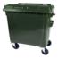 SalesBridges 4 wheeled collection waste bin 1100L Green
