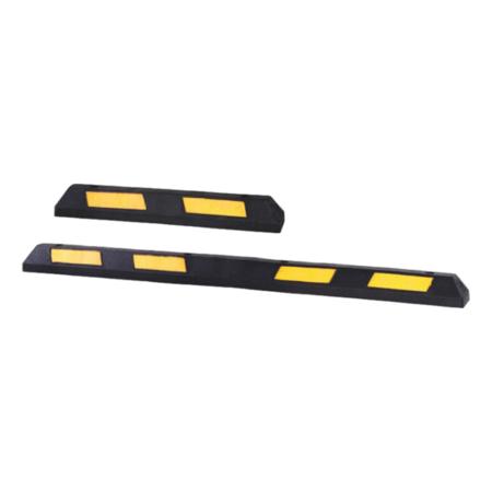 SalesBridges Safe parking stop made of hard rubber with reflector 90 cm