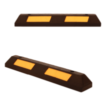 Safe parking stop made of hard rubber with reflector 90 cm