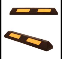 Veilige parkeerstop van hard rubber met reflector 90 cm