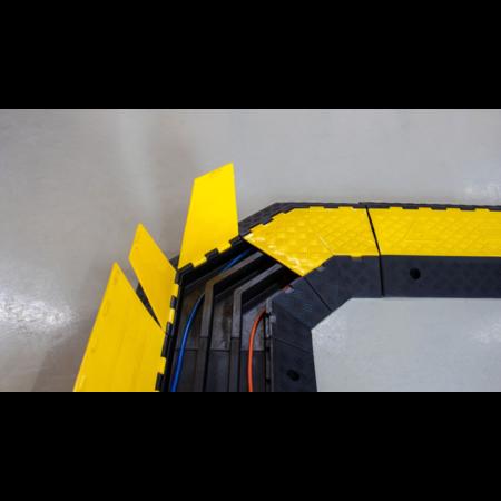 SalesBridges Kabelbrug 3 tunnels Ø 50 mm Kabel Bescherming 45° hoek