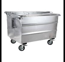 conteneur à déchets 1600L galvanisé avec roues