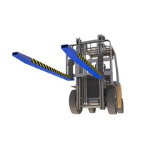Forks extenders sleeves  1800mm for forklift with security pin