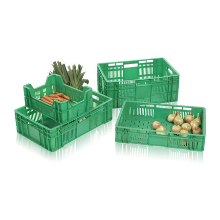 SalesBridges Eurobox for fruits and vegetables perforated 60x40x18 cm