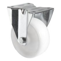 Fixed wheel 100mm 150kg Nylon Polyamide A white