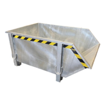 Bouwcontainer Thermisch Verzinkt Puincontainer Bouwafval Afvalcontainer Bouw 1000L 1500 kg