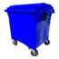 SalesBridges 4 wheeled collection waste bin 770L Blue