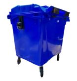 SalesBridges 4 wheeled collection waste bin 660L Blue