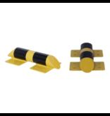 SalesBridges Stootbescherming dwarsbalk verzinkt en gepoedercoat in geel-zwart