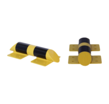 Collision protection crossbar galvanized and powder coated in yellow-black