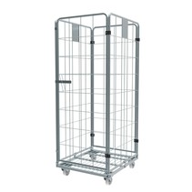 Roll Container with  4 sides demountable (H) 1830 mm zinc