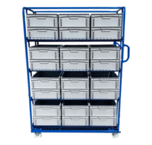 Order Picking Rollcontainer 130x65x190cm e-commerce container trolley
