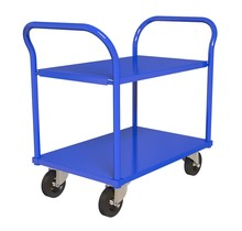 Chariot de travail  Chariot d'entrepôt 2 etagères 90x60cm RAL5010