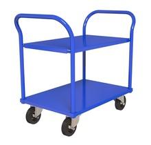 Werktrolley Werkplaatswagens Magazijnkar 2 legborden 90x60cm RAL5010