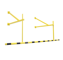 Laad-dock hoogtebegrenzer veiligheid en markering geel/zwart 2400mm