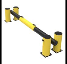 Laaddock poort en beschermd vangrail verstelbaar in lengte 2300 - 3300 mm