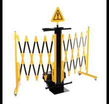 Uitbreiding van mobiel barricadesysteem met trolley