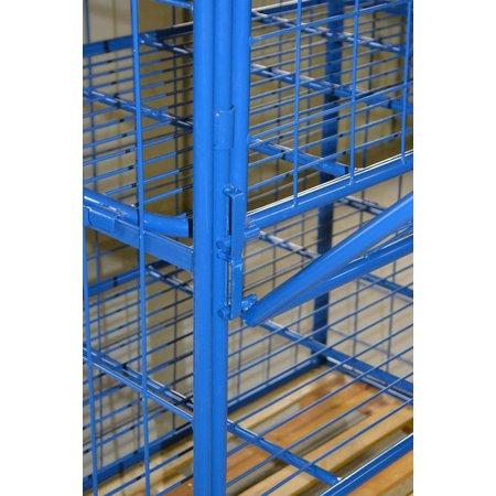 SalesBridges Rehausse palette acier 800x1200x1800 Grille 100×100 avec etageres