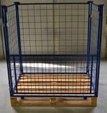 SalesBridges Rehausse palette acier 800x1200x1000 mm avec fenetre