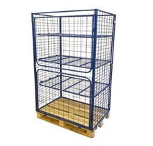 Cage Container metal H1800mm 3 shelves and 2 folding windows