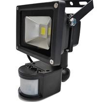 LED 10W Schijnwerper met PIR Sensor Bouwlamp 800lm 6000K IP65