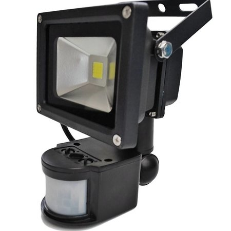 SalesBridges LED 10W Schijnwerper met PIR Sensor Bouwlamp 800lm 6000K IP65