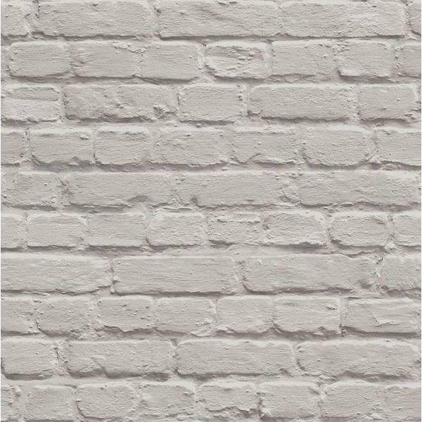 Dutch Wallcoverings Freestyle Baksteen - Licht grijs