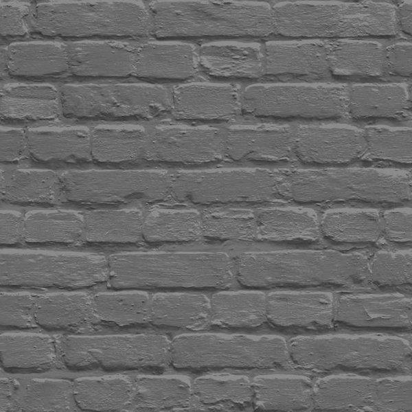 Dutch Wallcoverings Freestyle Baksteen - Zwart/zilver