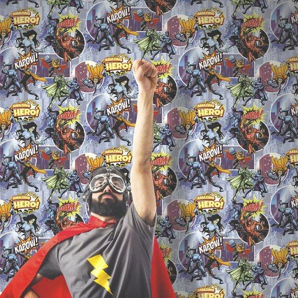 Dutch Wallcoverings Freestyle Cartoon Superheroes