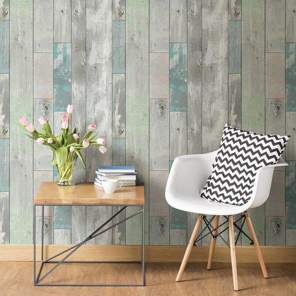 Dutch Wallcoverings Restored Sloophout grijs/groen