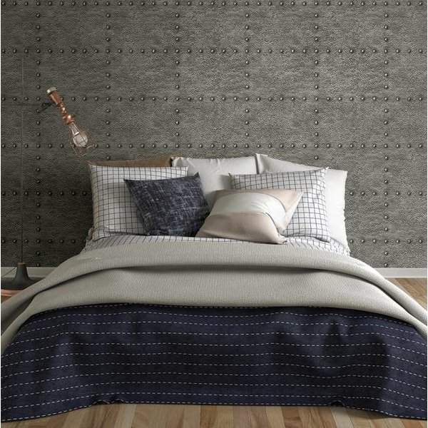 Dutch Wallcoverings Restored Hammered Metal - Antraciet