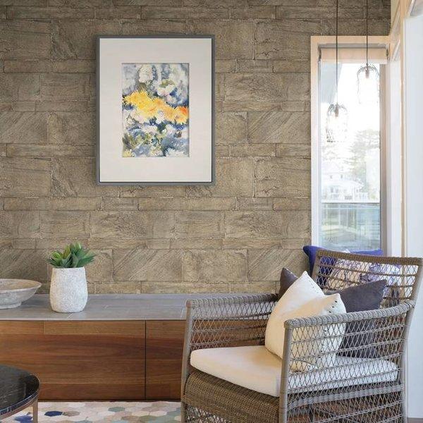Restored Sandstone Wall - Donker beige