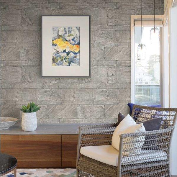 Dutch Wallcoverings Restored Sandstone Wall - Grijs/beige