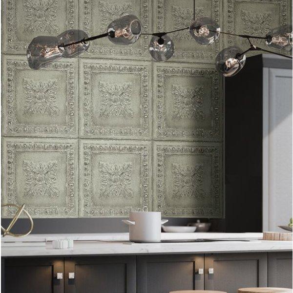 Dutch Wallcoverings Restored Ornament Tile - Licht groen