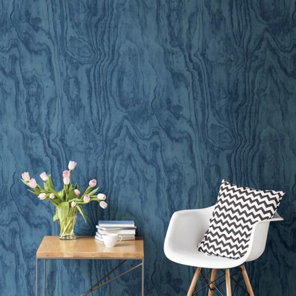 Restored Plywood - Blauw