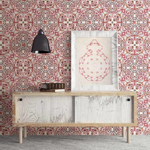 Restored Florentine Tile - Rood/oranje