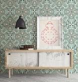 Dutch Wallcoverings Restored Florentine Tile - Groen 24044