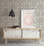 Dutch Wallcoverings Restored Florentine Tile - Grijs 24045