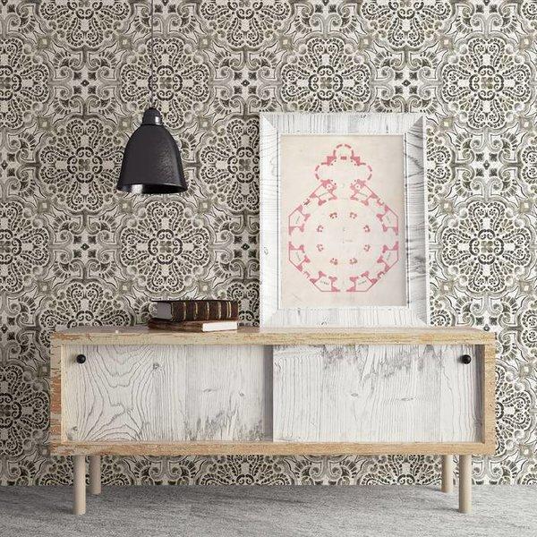 Dutch Wallcoverings Restored Florentine Tile - Grijs