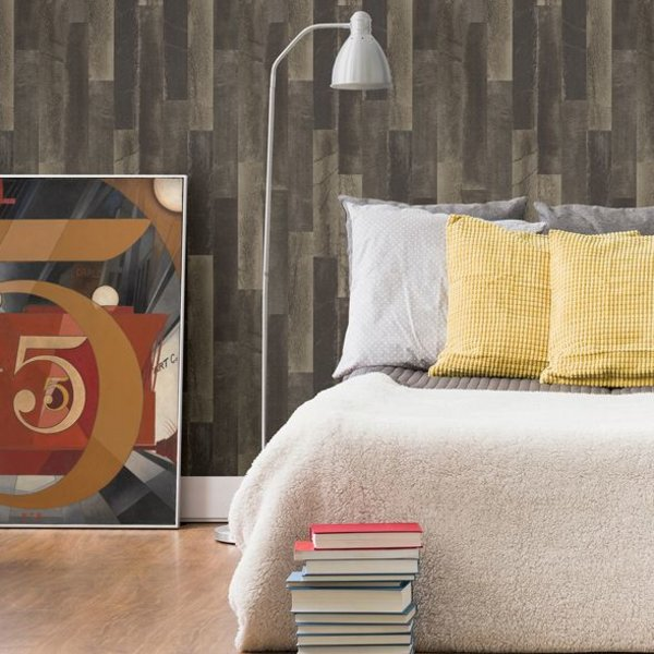 Restored Antique Floorboards - Donker bruin