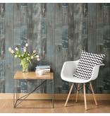 Dutch Wallcoverings Restored Sloophout grijs/blauw 24053