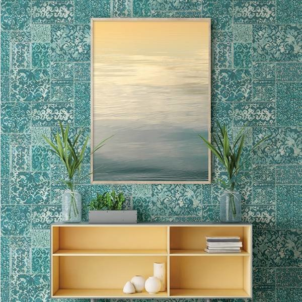 Dutch Wallcoverings Restored Vintage Carpet - Aqua 24060