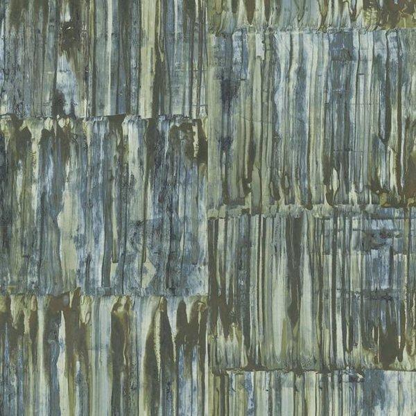 Dutch Wallcoverings Restored Patina Panels - Blauw/groen 24062