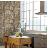 Dutch Wallcoverings Restored Patina Panels - Bruin/goud 24063