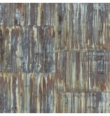 Dutch Wallcoverings Restored Patina Panels - Bruin/blauw 24064