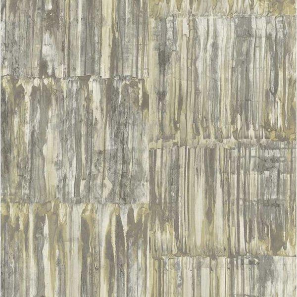 Dutch Wallcoverings Restored Patina Panels - Beige/groen 24065