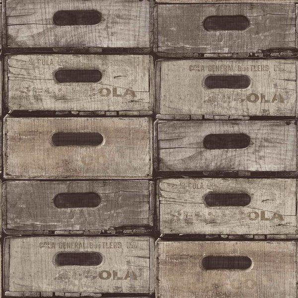 Dutch Wallcoverings Exposed Warehouse laden grijs